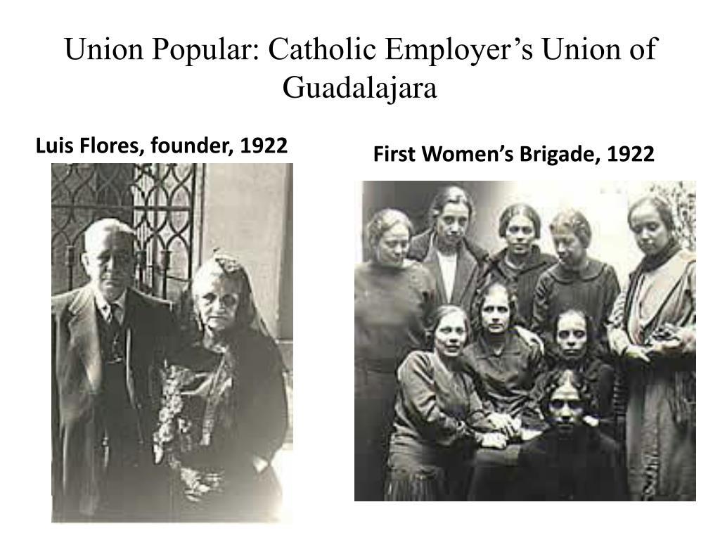 Union Popular: Catholic Employer's Union of Guadalajara