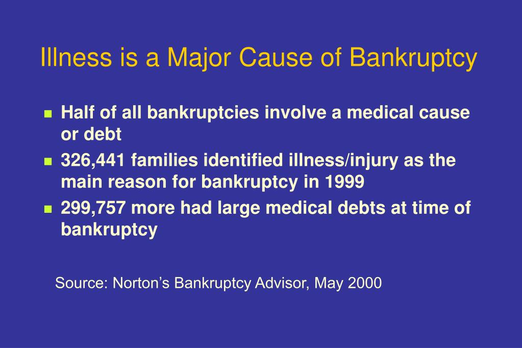 Illness is a Major Cause of Bankruptcy