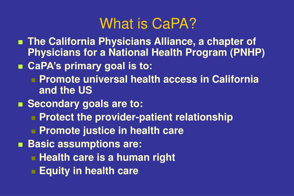 What is CaPA?