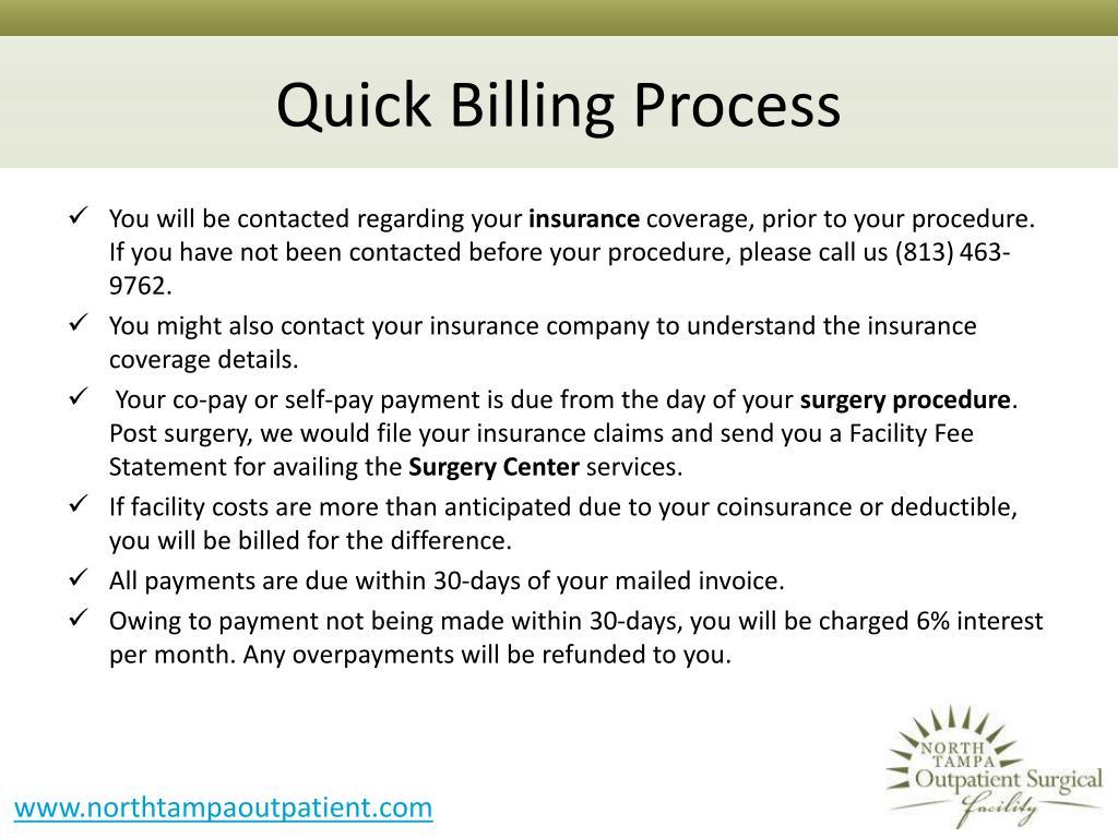 Quick Billing Process