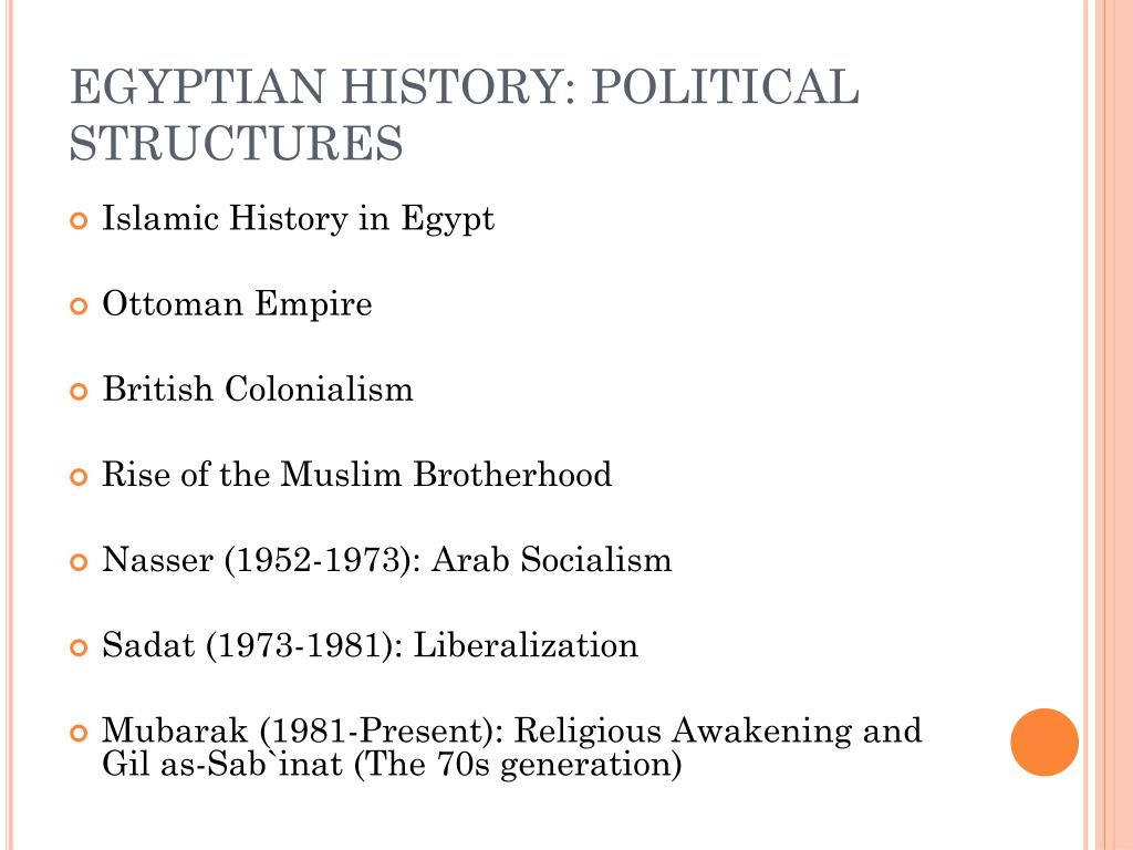 EGYPTIAN HISTORY: POLITICAL STRUCTURES