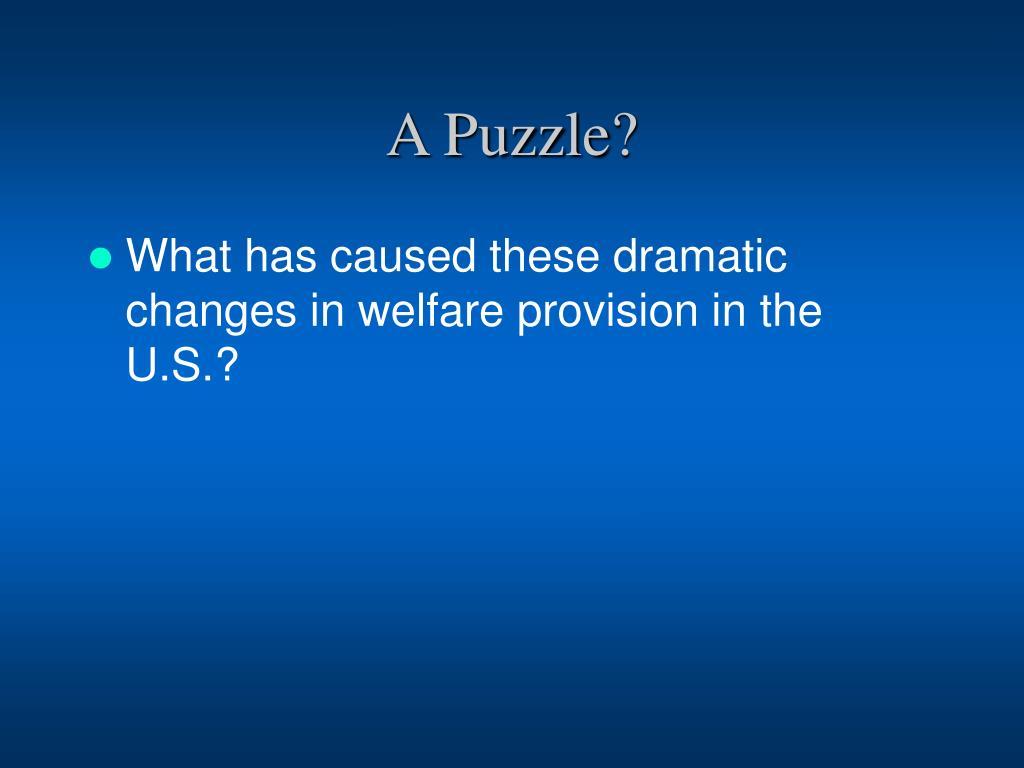 A Puzzle?
