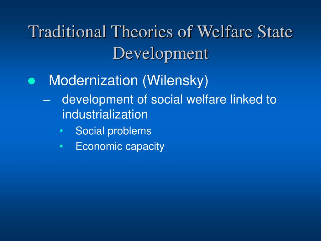 Traditional Theories of Welfare State Development