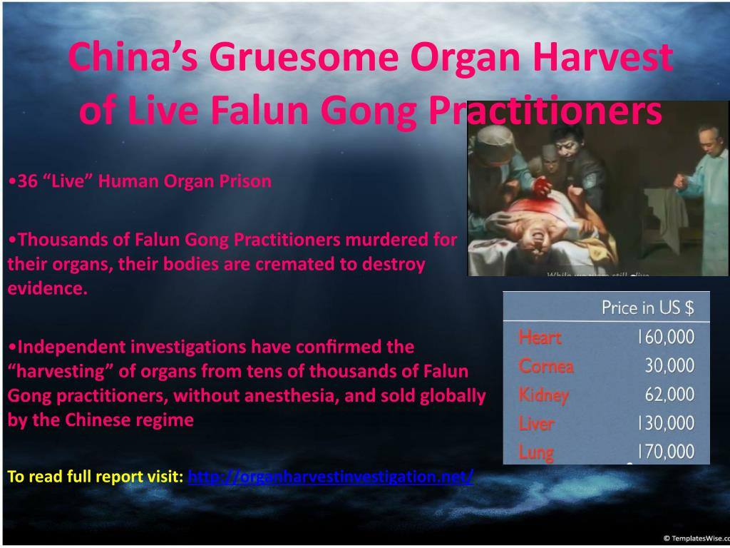 China's Gruesome Organ Harvest of Live Falun Gong Practitioners