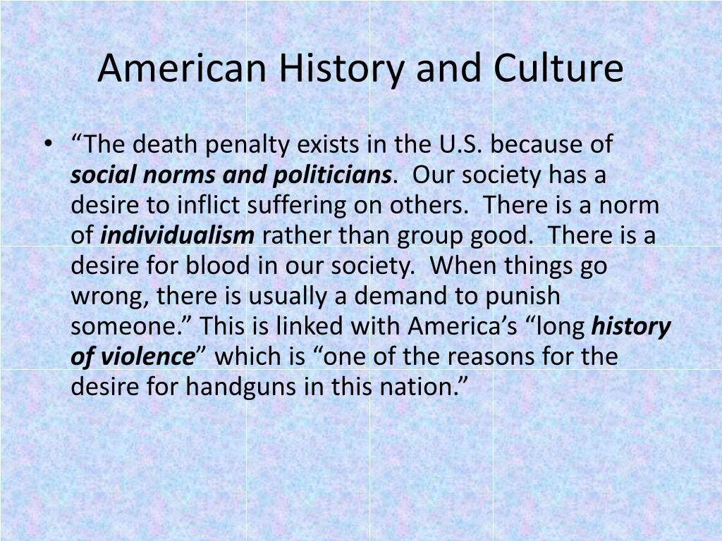 American History and Culture