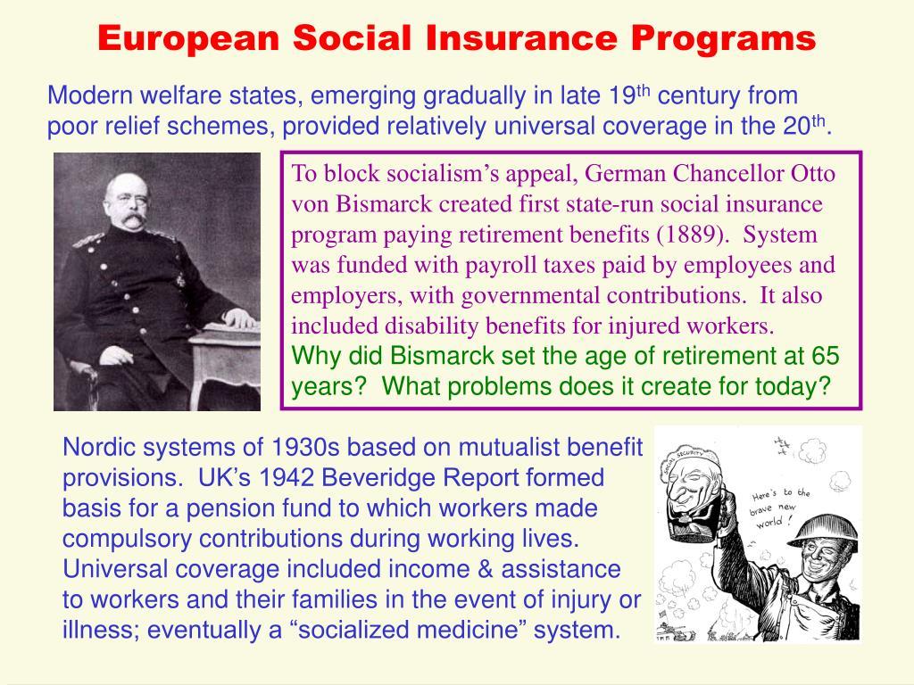 European Social Insurance Programs