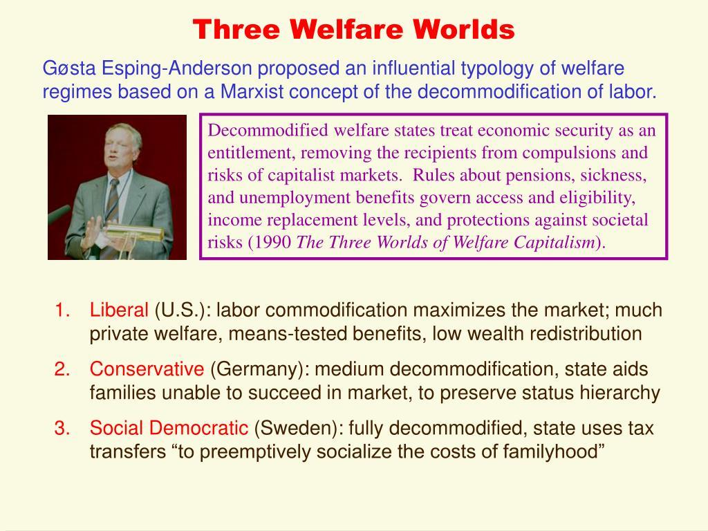 Three Welfare Worlds