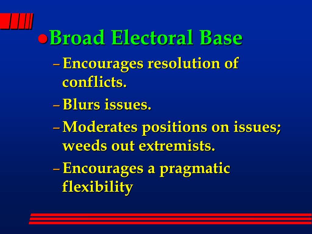 Broad Electoral Base