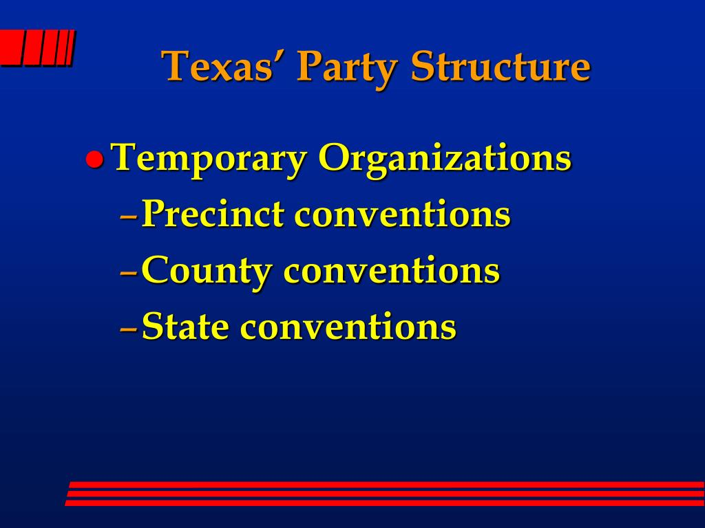 Texas' Party Structure