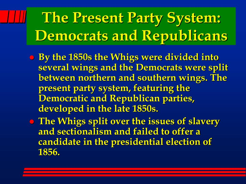 The Present Party System: Democrats and Republicans