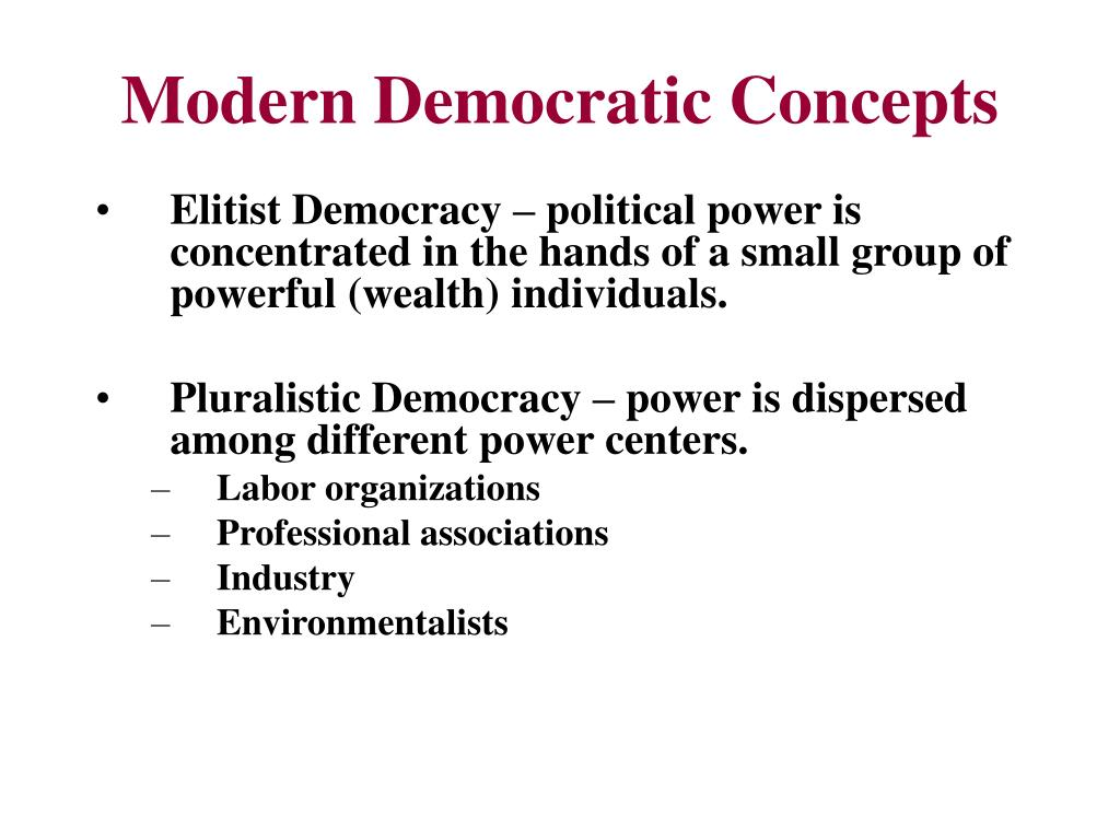 Modern Democratic Concepts