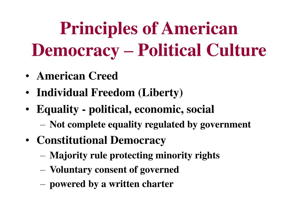 Principles of American Democracy – Political Culture