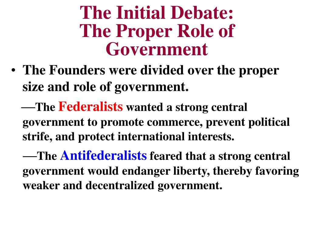 The Initial Debate: