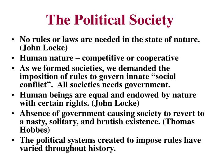 The political society