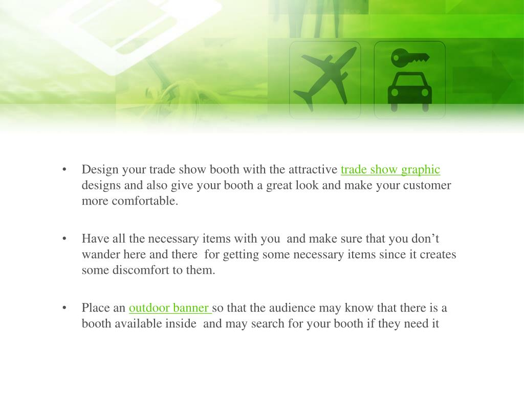 Design your trade show booth with the attractive