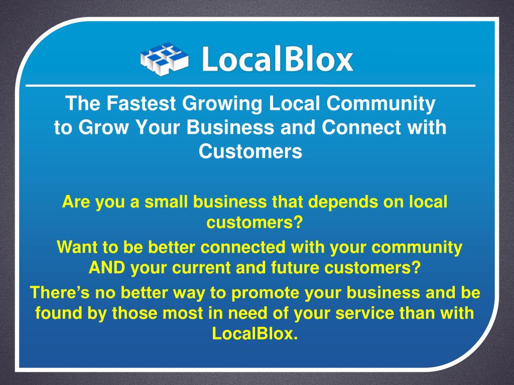 The Fastest Growing Local Community