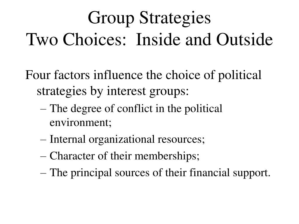 Group Strategies