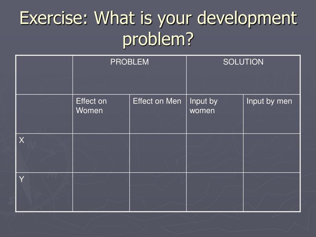 Exercise: What is your development problem?