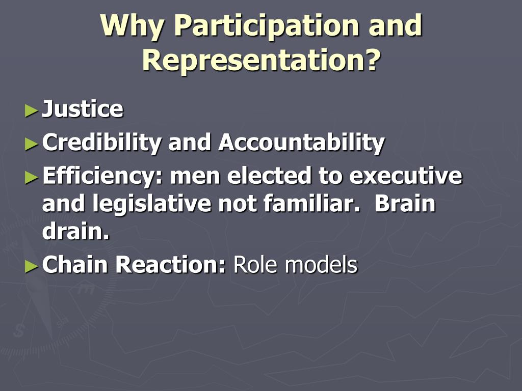 Why Participation and Representation?