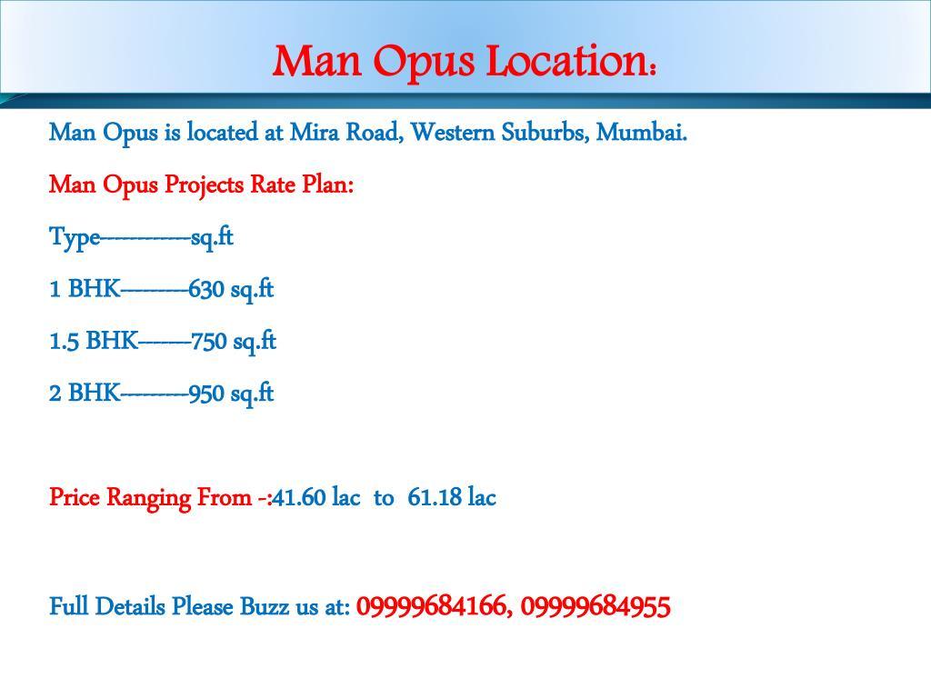 Man Opus Location: