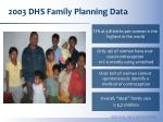 2003 dhs family planning data