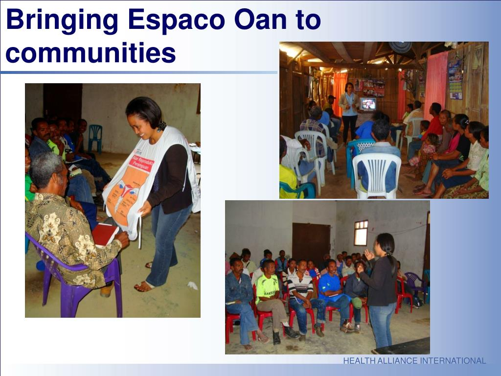 Bringing Espaco Oan to communities