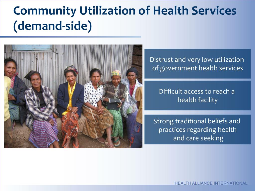 Community Utilization of Health Services