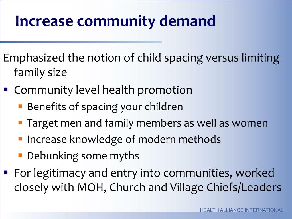 Increase community demand