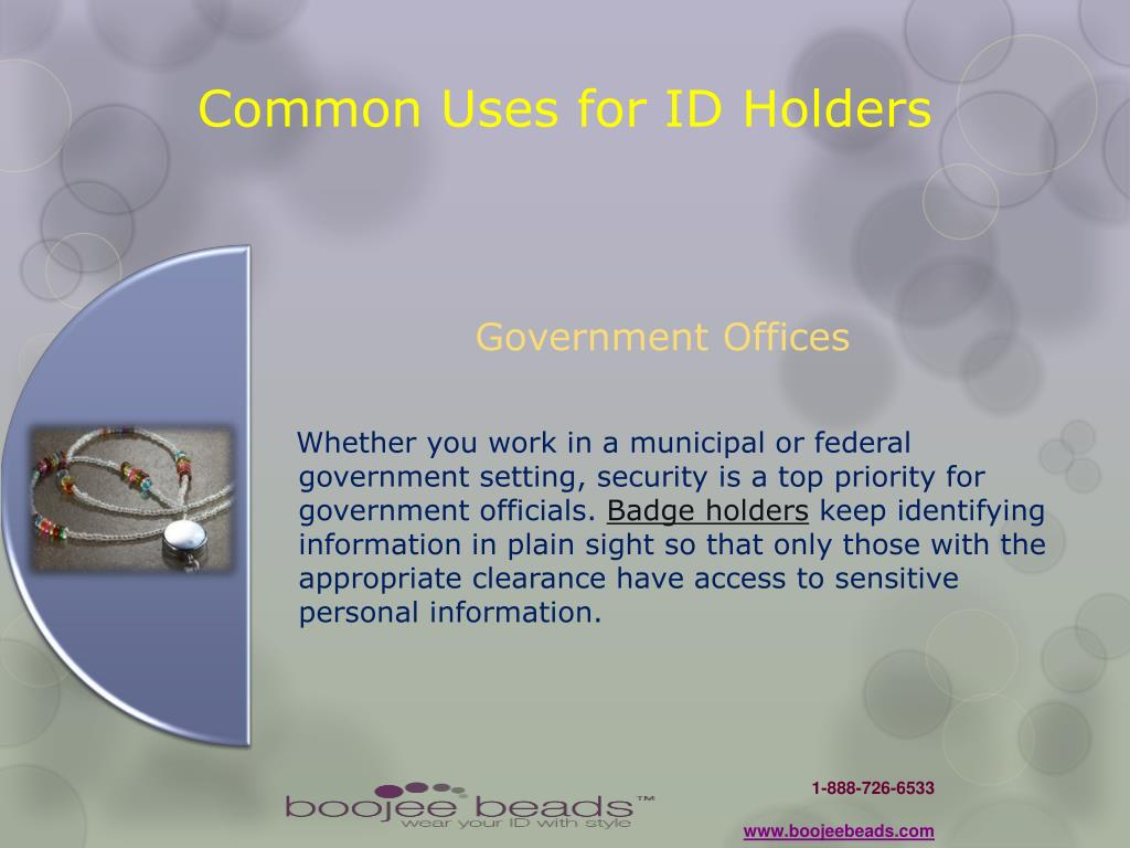 Common Uses for ID Holders