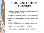 2 marxist feminist theories