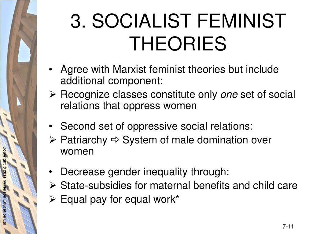 3. SOCIALIST FEMINIST THEORIES