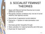 3 socialist feminist theories