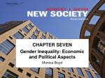 chapter seven gender inequality economic and political aspects monica boyd