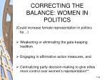 correcting the balance women in politics34