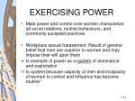 exercising power