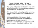 gender and skill