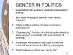 gender in politics