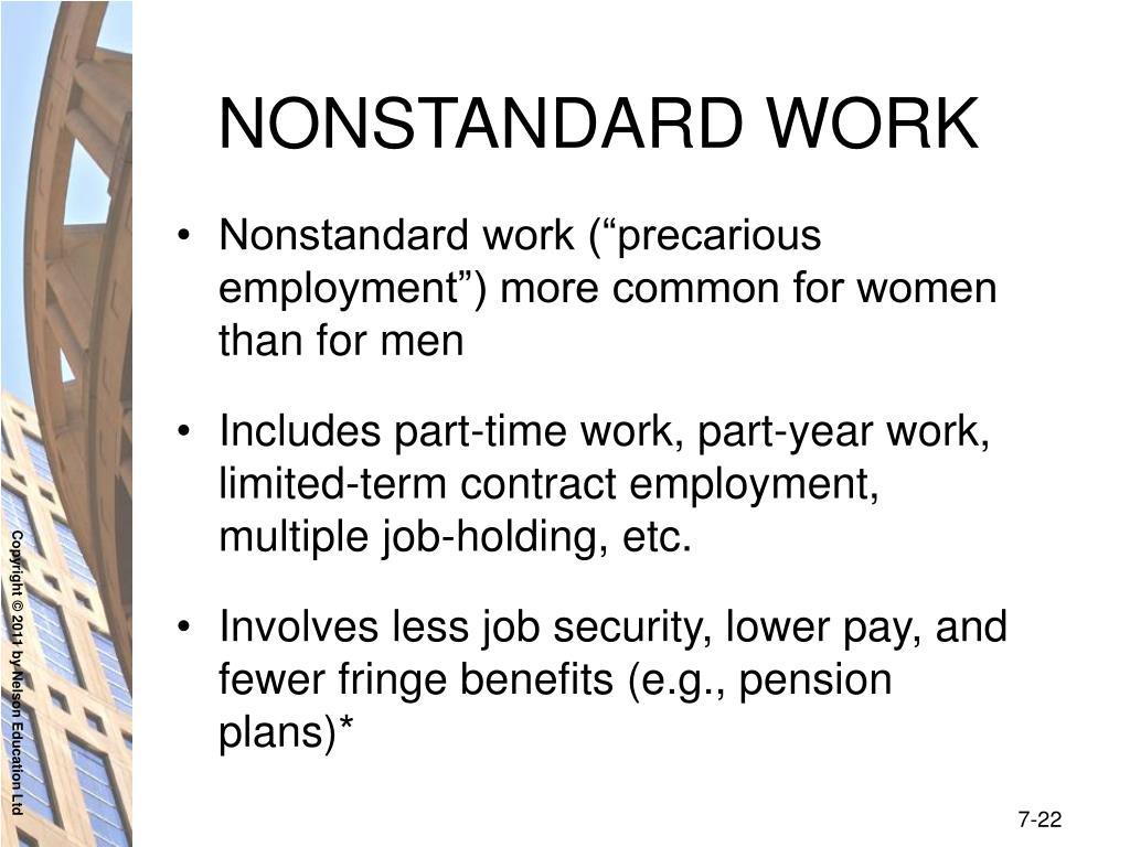 NONSTANDARD WORK