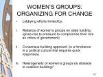 women s groups organizing for change27