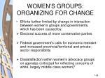 women s groups organizing for change28