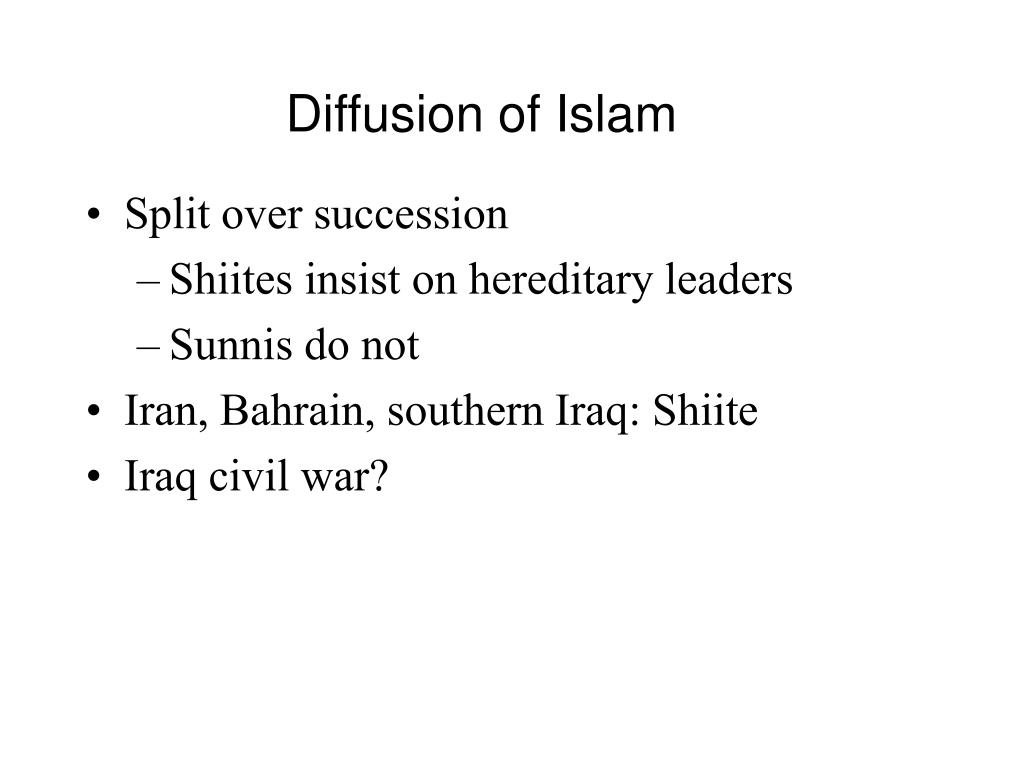 Diffusion of Islam