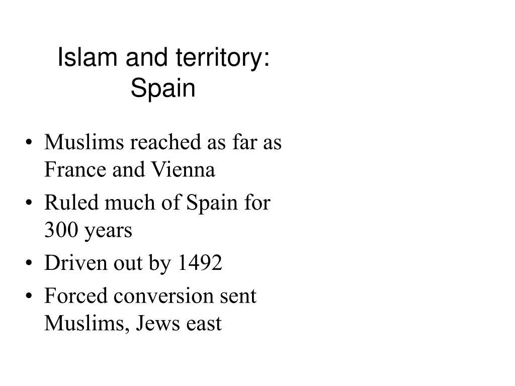 Islam and territory: Spain