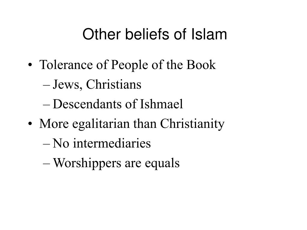 Other beliefs of Islam