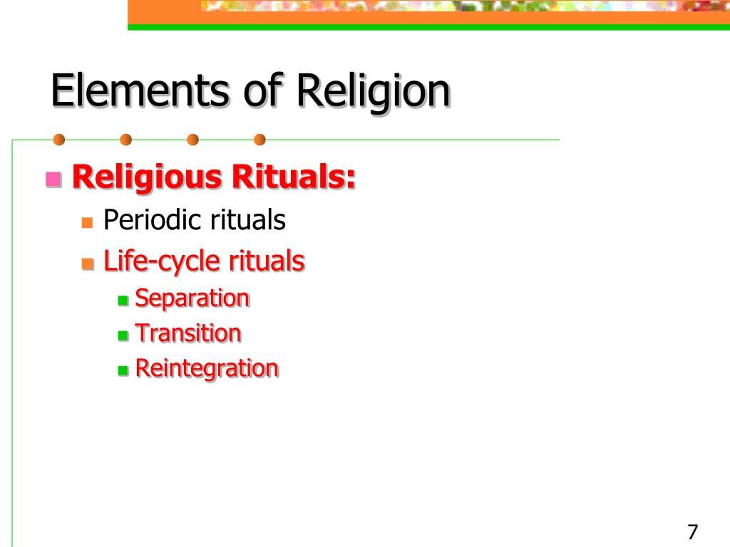 Elements of Religion