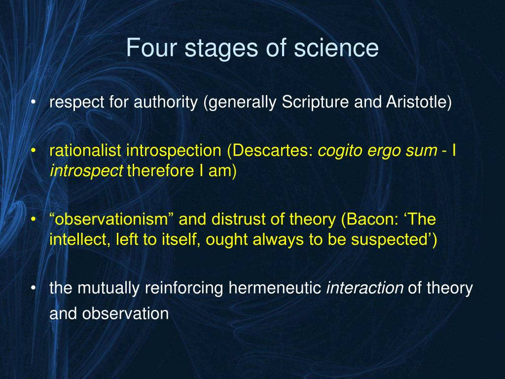Four stages of science