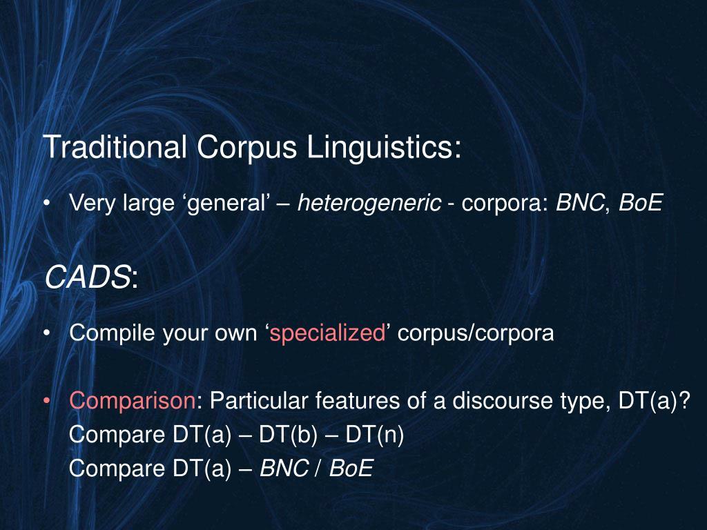 Traditional Corpus Linguistics: