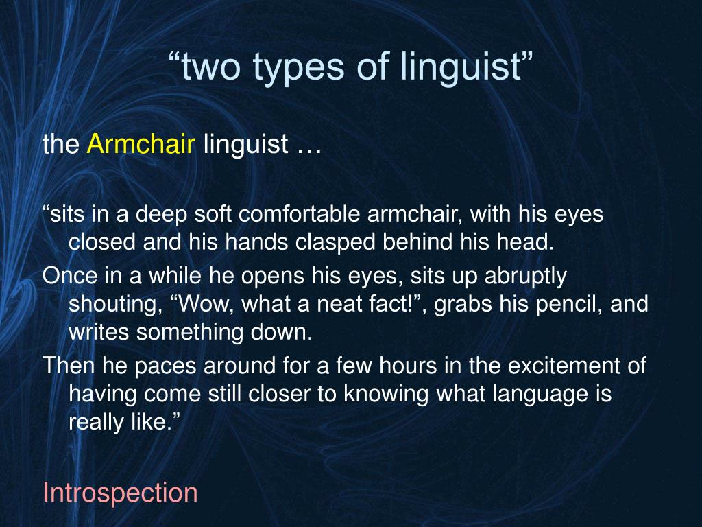 """""""two types of linguist"""""""