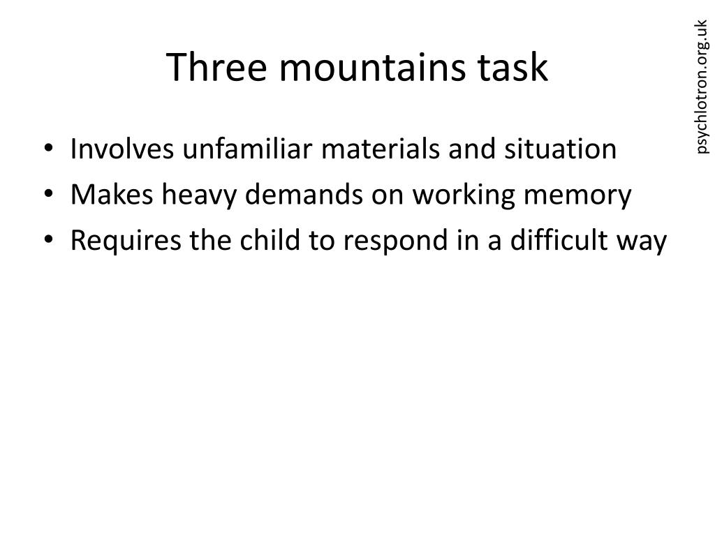 Three mountains task