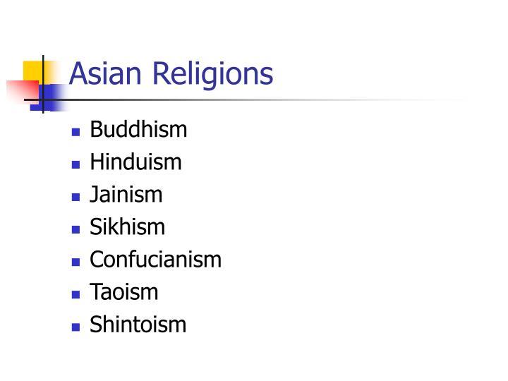 Asian Religions