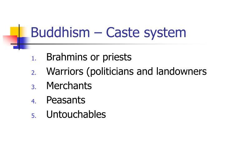 Buddhism – Caste system